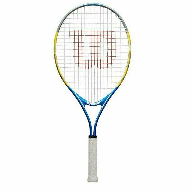 Ракетка теннисная Wilson US OPEN 25, арт. WRT20330U,для 9-10 лет,алюминий,со струнами, желто-сине-черный