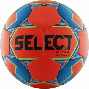 Мяч футзальный SELECT Futsal Street арт.850218-552, р.4, 32п, мат.ПУ, руч.сш, оранжево-сине-черный