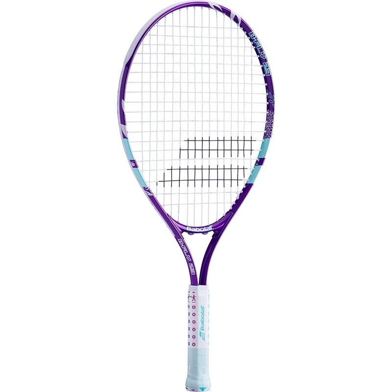 Ракетка теннисная детская BABOLAT B`FLY 23 Gr000, арт.140244, для 7-9лет, алюминий,со струнами,фиолет-бирюз