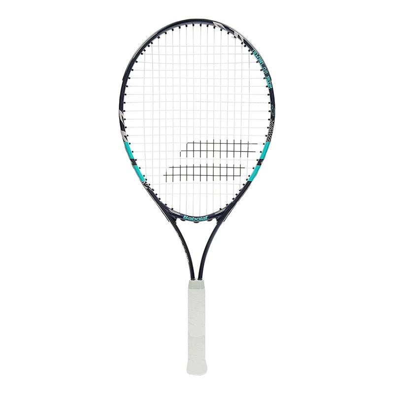Ракетка теннисная детская BABOLAT B`FLY 25 Gr00, арт.140245, для 9-10 лет,алюминий,со струнами,фиолет-бирюз