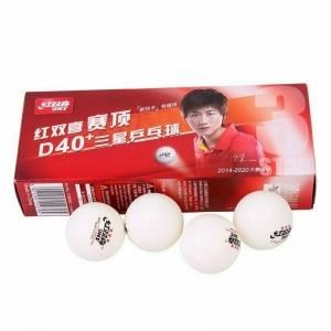 Мяч для настольного тенниса DHS 3***, арт. CD40AO, диам.40+, пластик, ITTF Appr., упак. 10 шт, белый