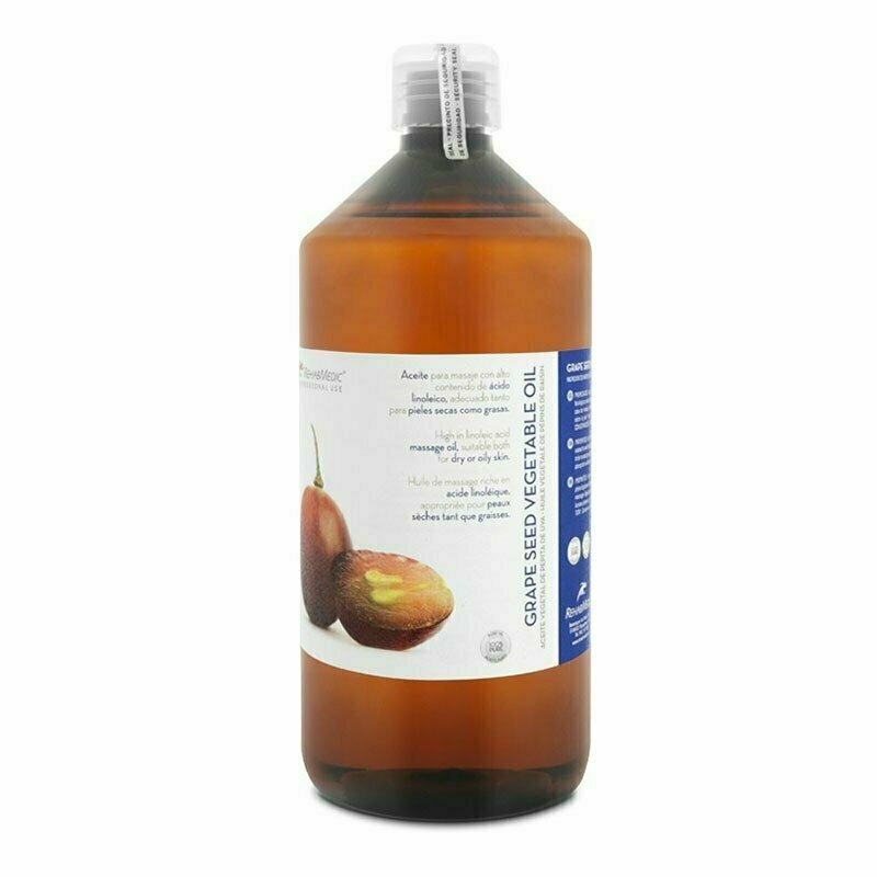 Масло массажное Rehab Pepita de Uva, виноградная косточка, арт. RMG0314001, 1 л REHABMEDIC
