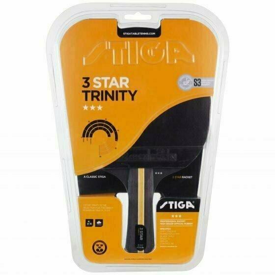 Ракетка для настольного тенниса Stiga Trinity WRB 3***, арт.1213-3616-01, трениров, накл. 2,0 мм ITTF, конич. ручка