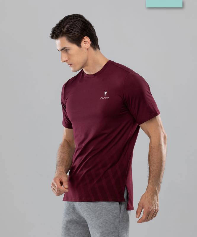 Мужская спортивная футболка Balance FA-MT-0105, бордовый, FIFTY