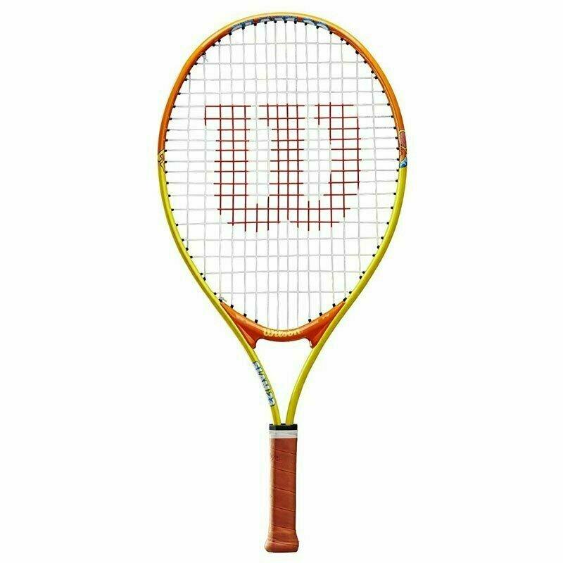 Ракетка теннисная Wilson SLAM 23, арт. WRT20390U, для 7-8 лет,алюминий,со струнами, желто-оранжевая