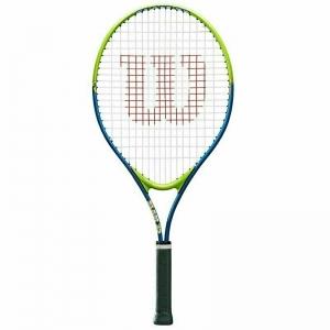 Ракетка теннисная Wilson SLAM 25, арт. WRT20400U, для 7-8 лет,алюминий,со струнами, салатово-синяя