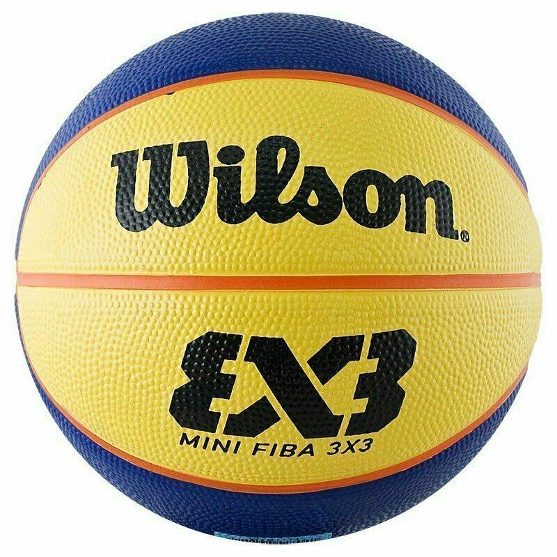 Мяч баскетбольный WILSON FIBA3x3 Replica Mini, арт.WTB1733XB, р.3, резина, бутиловая камера , сине-желтый