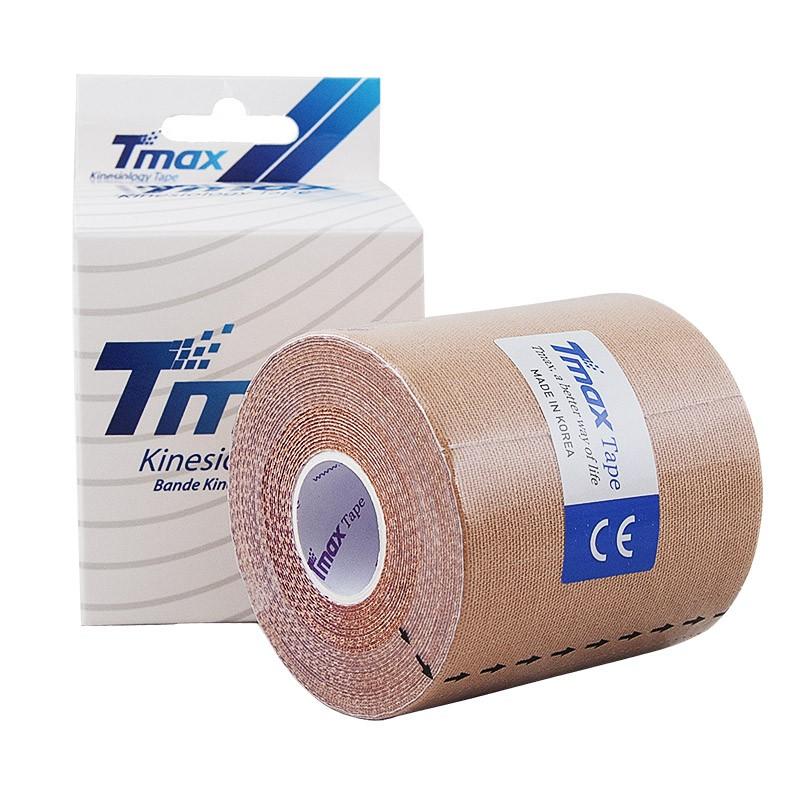 Тейп кинезиологический Tmax Extra Sticky Biege (7,5 см x 5 м), арт. 423914, телесный