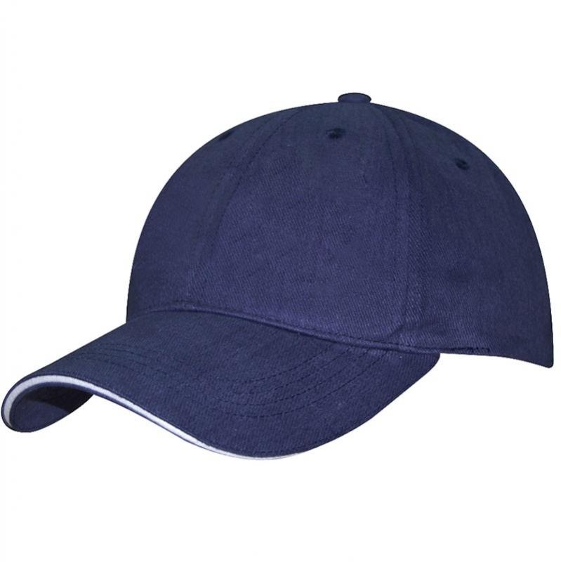 Бейсболка спорт. MIKASA, арт. MT481-036, 100% хлопок, темно-синяя
