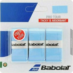 Овергрип BABOLAT Pro Tour X3, арт.653037-136, упак. по 3 шт, 0.6 мм, 115 см, голубой