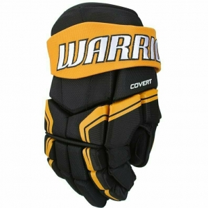 Перчатки хоккейные  WARRIOR QRE3 арт.Q3G-BKO-10, р.10, нейлон, ЭВА,черно-оранжевый