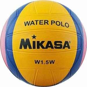 Мяч для водного поло сувенирный  MIKASA W1.5W , р.1, резина, диам. 15 см, желто-сине-роз