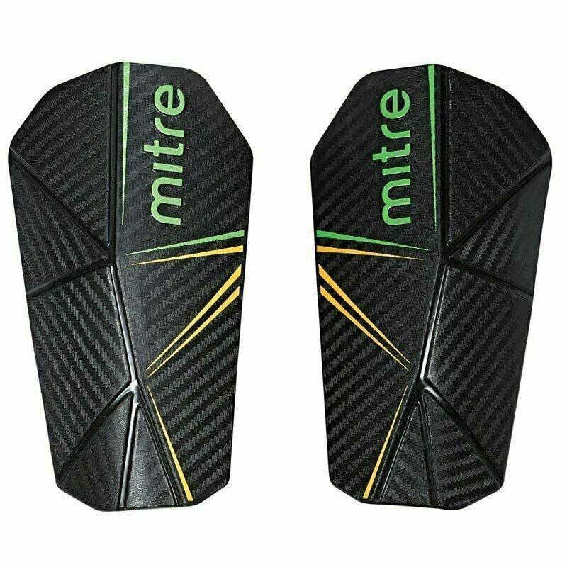 Щитки футбольные  MITRE Delta Slip арт.S80005BGY, р. M, без голеностопа, пластик, подк.из ЭВА, черный