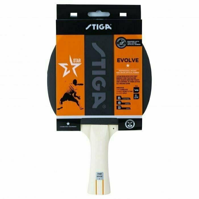 Ракетка для настольного тенниса Stiga Evolve WRB 1*, арт.1211-8318-01, для любит., накл. 1,7мм ITTF, конич. ручка