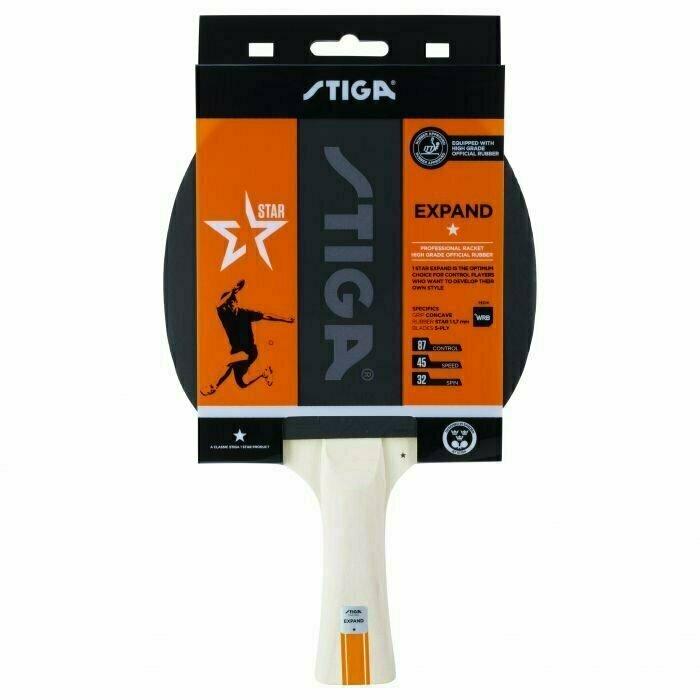 Ракетка для настольного тенниса Stiga Expand WRB 1*, арт.1211-8518-01, для любит., накл. 1,8мм ITTF, конич. ручка