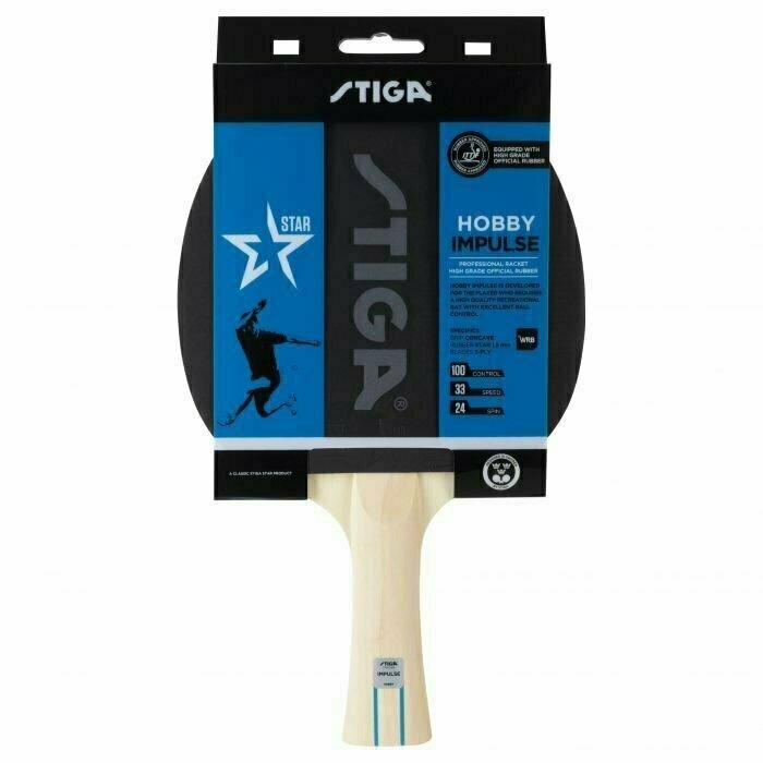 Ракетка для настольного тенниса Stiga Hobby Impulse WRB, арт.1210-6418-01, для начин., накл.1,6 мм ITTF, прям. ручка