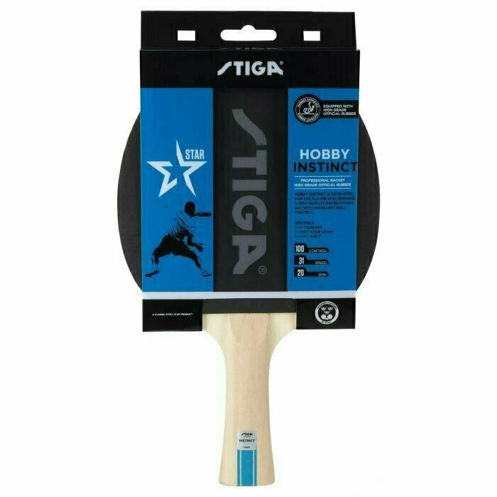 Ракетка для настольного тенниса Stiga Hobby Instinct, арт.1210-6318-01, для начин., накл. 1,5 мм ITTF, конич. ручка