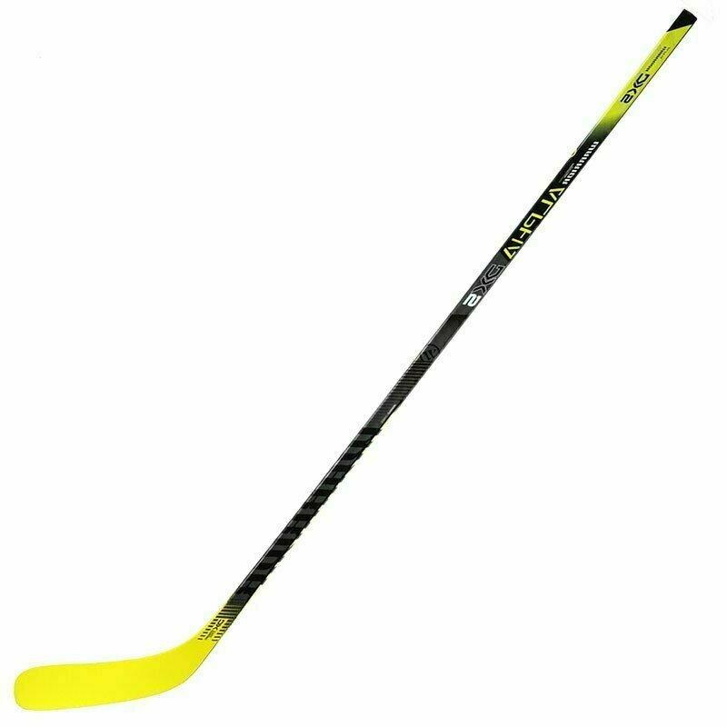 Клюшка хоккейная детская WARRIOR ALPHA DX5 50 Jr Bakstrm4, арт.DX550G9-LFT, жесткость50, левая, жел-бел-чер