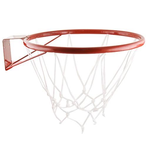 Кольцо баскетбольное № 5, арт.MR-BRim5, диам.380 мм, труба 18 мм, с сеткой и кронштейном, красное MADE IN RUSSIA