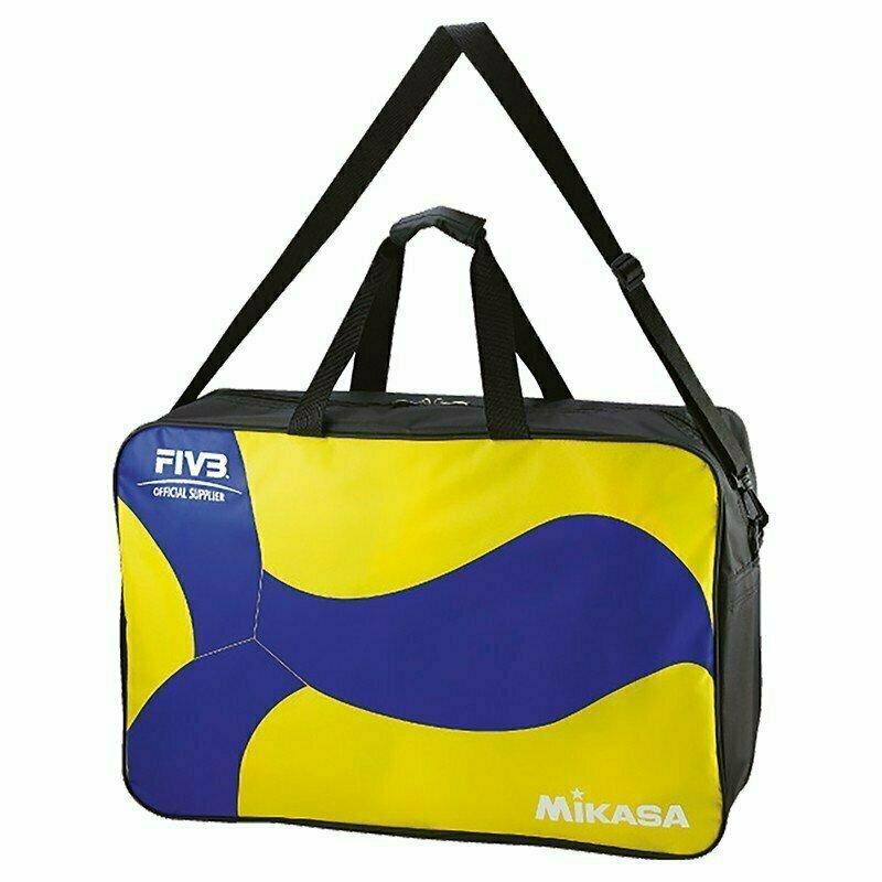 Сумка на 6 вол. мячей MIKASA арт. AC-BG260W-YB, нейлон, на молнии, желто-синий