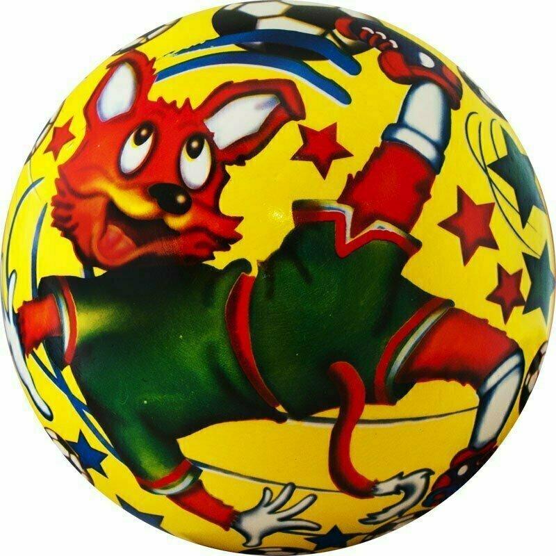 Мяч детский  Веселый футбол , арт.DS-PP 089, диам. 23 см, пластизоль, синий PALMON