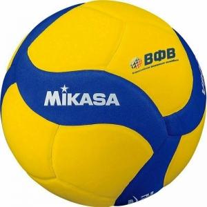 Мяч волейбольный  MIKASA V800 W , р.5, синт.пена ТПЕ, клеен,18 пан,бутиловая камера ,желто-синий