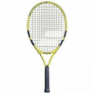 Ракетка теннисная детская BABOLAT Nadal 25 Gr0, арт.140249, для 9-10 лет, алюминий, со струнами,черно-желт