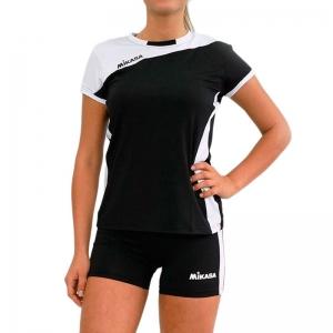 Форма волейбольная женская  MIKASA , арт. MT375-046-L, р. L, 90% полиэстер 10% эластан, черно-белый