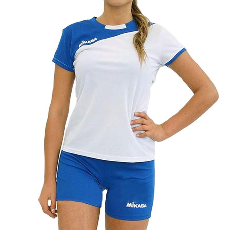 Форма волейбольная женская  MIKASA , арт. MT376-018-L, р. L, 100% полиэстер, бело-синий