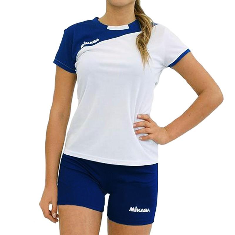 Форма волейбольная женская  MIKASA , арт. MT376-023-L, р. L, 100% полиэстер, бело-т.синий