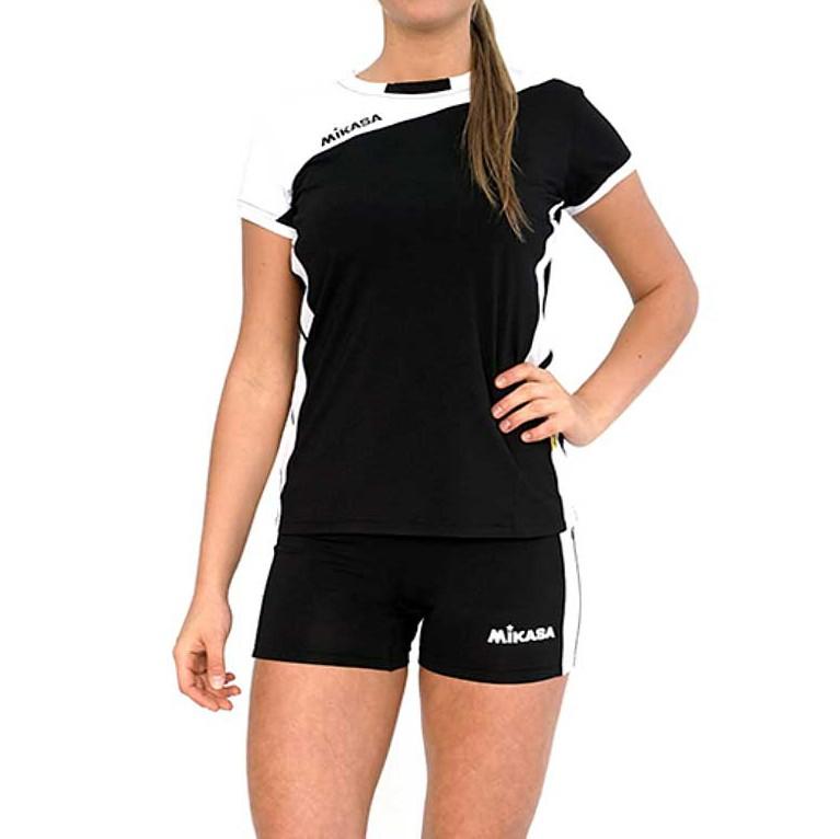 Форма волейбольная женская  MIKASA , арт. MT376-046-S, р. S, 100% полиэстер, бело-черный