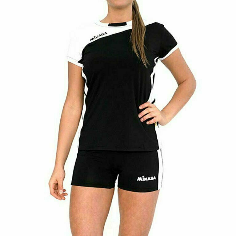 Форма волейбольная женская  MIKASA , арт. MT376-046-XS, р. XS, 100% полиэстер, бело-черный