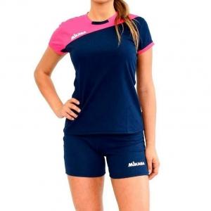 Форма волейбольная женская  MIKASA , арт. MT376-063-S, р. S, 100% полиэстер, фуксия-т.синий