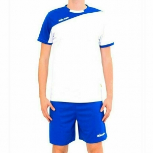 Форма волейбольная мужская MIKASA , арт. MT351-018-L, р.L, 100% полиэстер, бело-синий