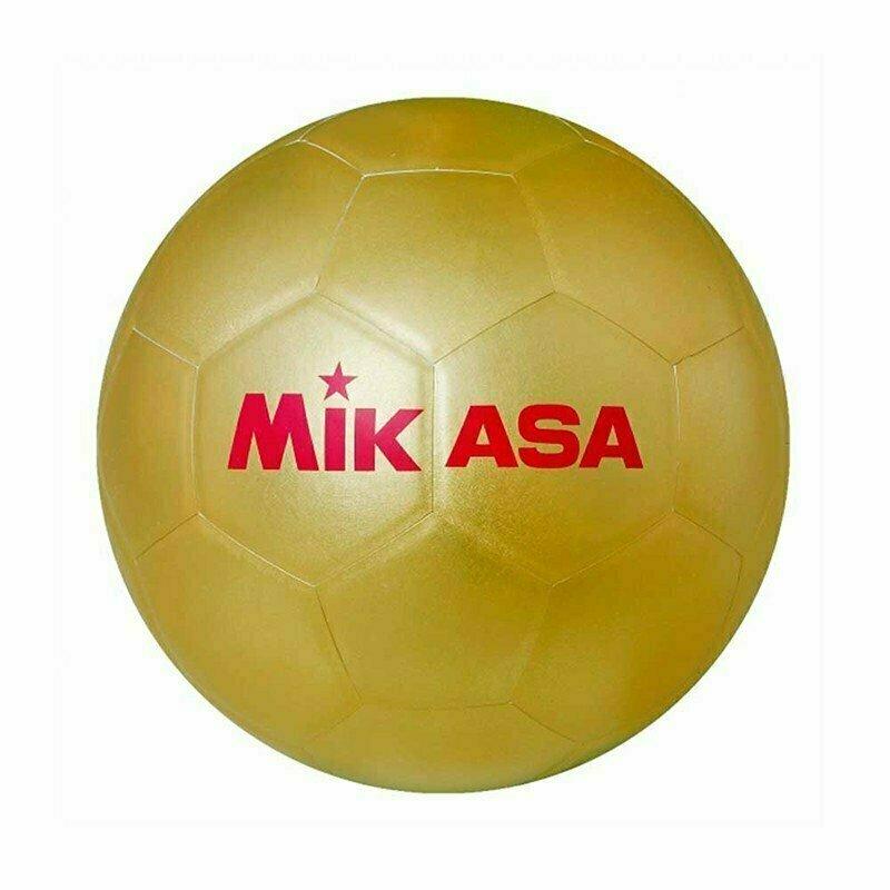Мяч футбольный для автографов MIKASA GOLD SB , р.5, синт. кожа, клееный, золотой