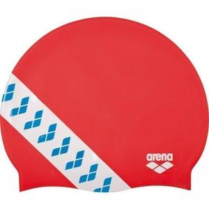 Шапочка для плавания  ARENA Team Stripe Cap , арт.001463477, КРАСНЫЙ, силикон