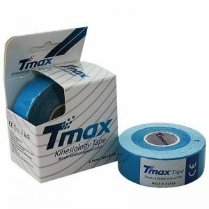 Тейп кинезиологический Tmax Extra Sticky Blue (2,5 см x 5 м), уп. 2 шт, арт. 423822, синий