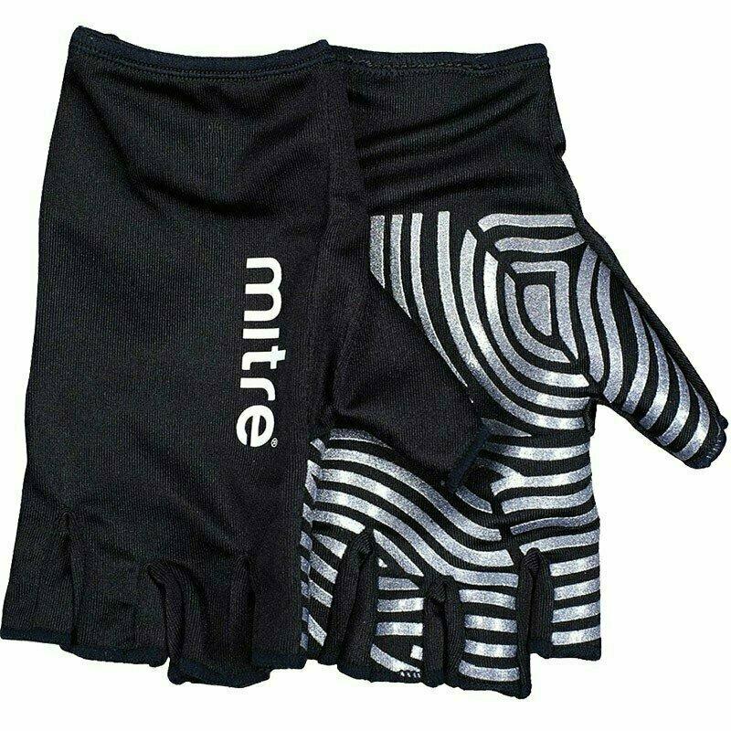 Перчатки для регби MITRE Sticky Fingers арт.T29008, р. M, лайкра, силикон, черно-серебристые