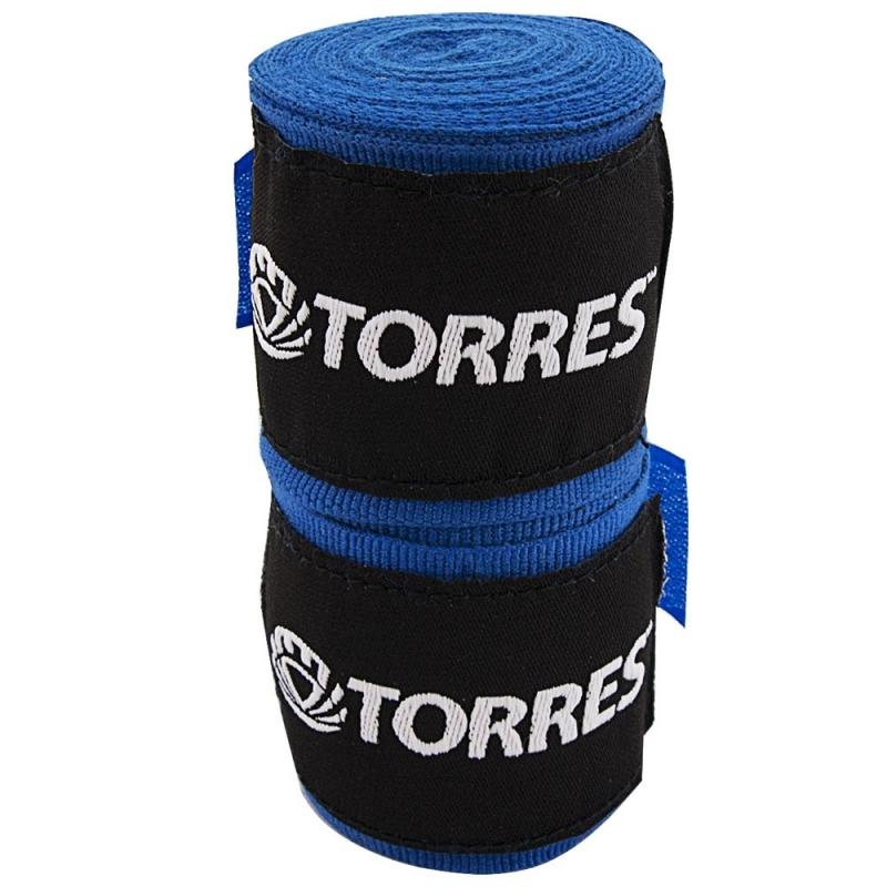 Бинт боксерский TORRES арт.PRL619015BU, дл. 3,5 м, шир. 5,5 см, 1 пара, хлопок, синий