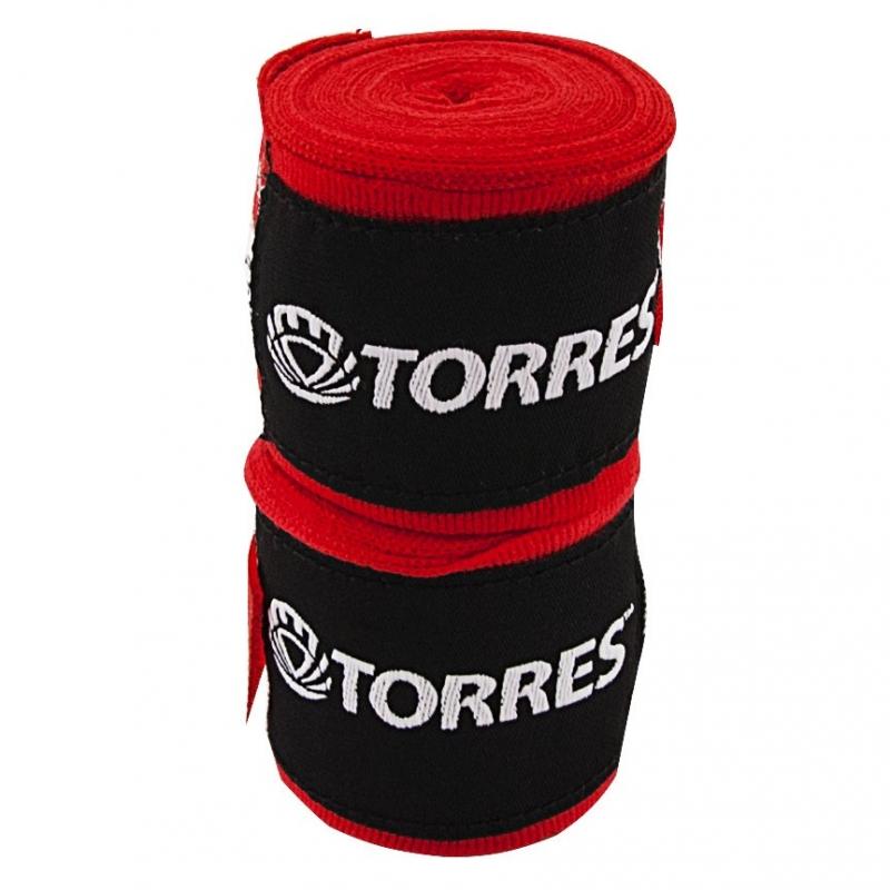 Бинт боксерский TORRES арт.PRL619015R, дл. 3,5 м, шир. 5,5 см, 1 пара, хлопок, красный