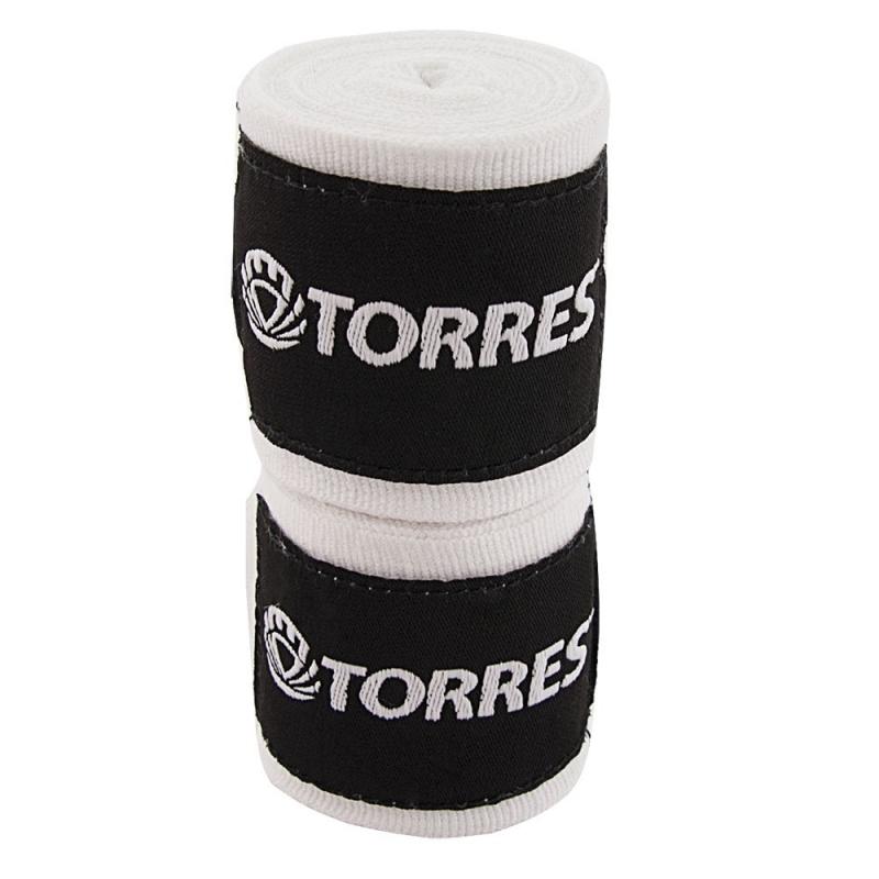 Бинт боксерский TORRES арт.PRL619015W, дл. 3,5 м, шир. 5,5 см, 1 пара, хлопок, белый