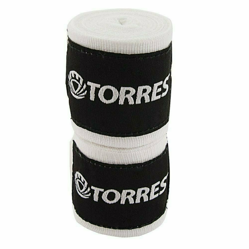 Бинт боксерский TORRES арт.PRL619016W, дл. 2,5 м, шир. 5 см, 1 пара, хлопок, белый