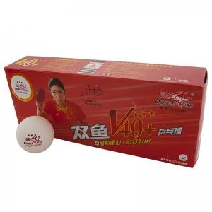 Мяч для настольного тенниса Double Fish 3***, арт.V111F1, диам. V40+мм, ITTF Appr,плаcтик,упак.10 шт,белый