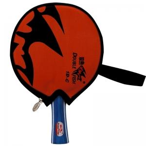 Ракетка для настольного тенниса DOUBLE FISH, арт.1D-C, для любителей, накладка 1,5 мм, конич. ручка