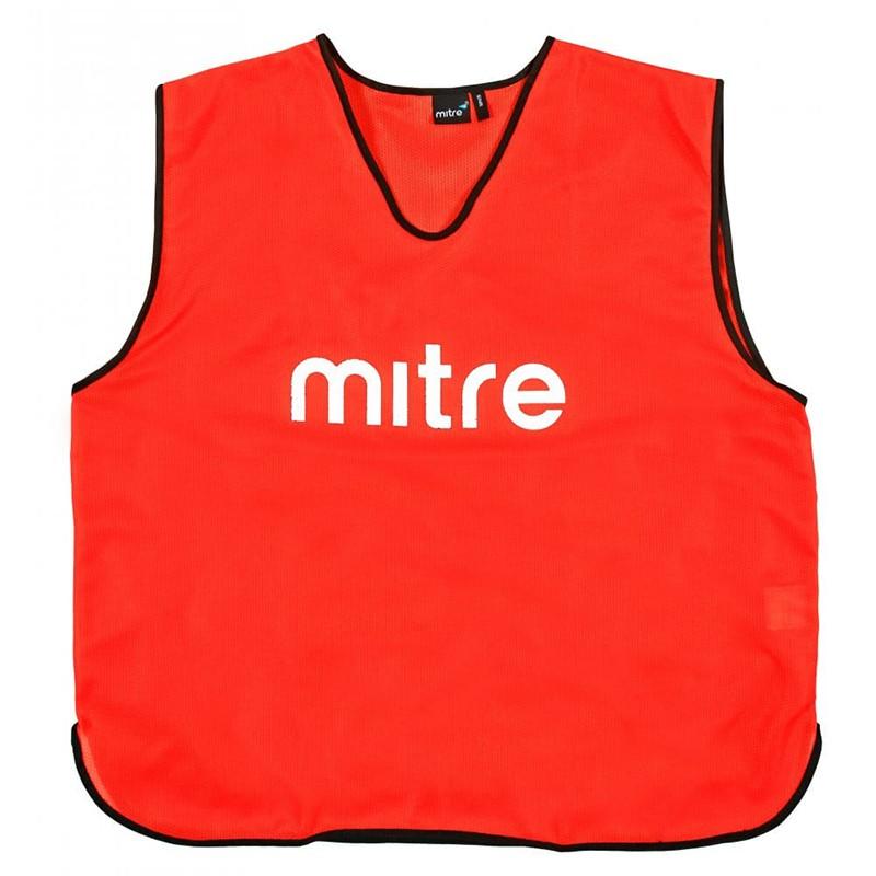 Манишка тренировочная  MITRE арт. Т21503RE1-SR, р.SR(объем груди 122см), полиэстер, красный
