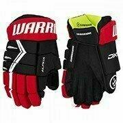 Перчатки хоккейные  WARRIOR ALPHA DX5 арт.DX5G9-BRD13, р.13, нейлон, ЭВА с пласт. встав, черн-красн