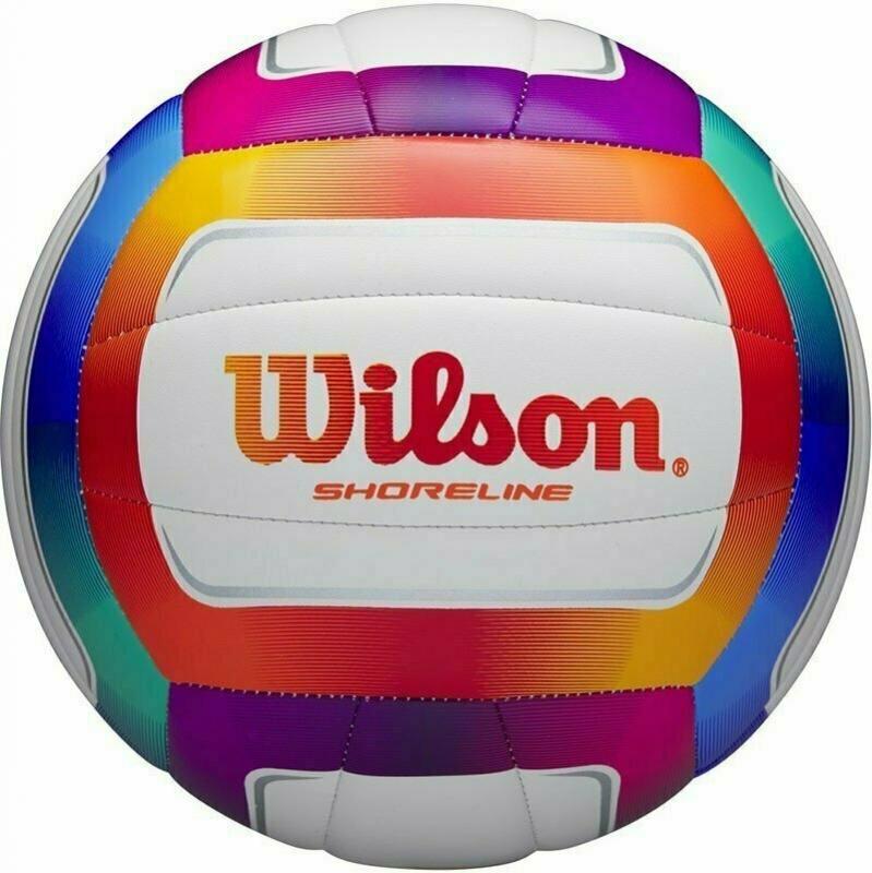 Мяч волейбольный  Wilson Shoreline арт. WTH12020XB, р.5, 18 панелей, синтетическая кожа PVC, маш.сшивка, мультиколор