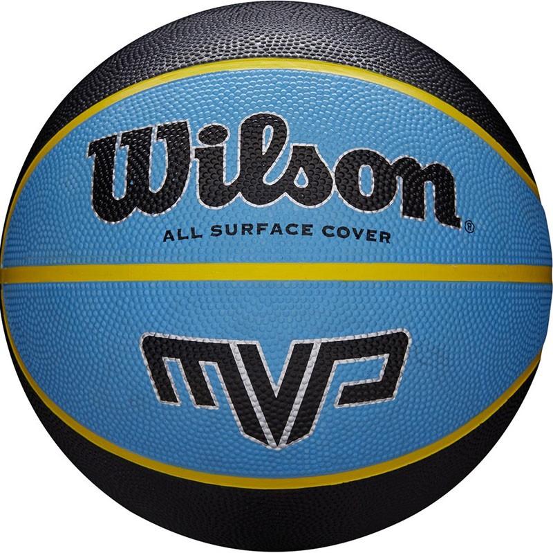 Мяч баскетбольный WILSON MVP, арт.WTB9019XB07, р.7, резина, бутил.камера, сине-черный