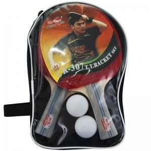 Набор для настольного тенниса DOUBLE FISH, арт.CK-307, 2 ракетки и 2 мяча, наклад. 1,6 мм, конич. ручка
