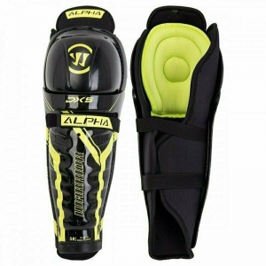 Защита коленей/голени WARRIOR DX5 SR Shin Grd арт.DX5SGSR9-16, р.16, пластик, полиэстер, черно-жел